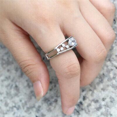 Fashion Women 925 Silver Rings White Sapphire Wedding Ring Free Ship Size 6-10 2