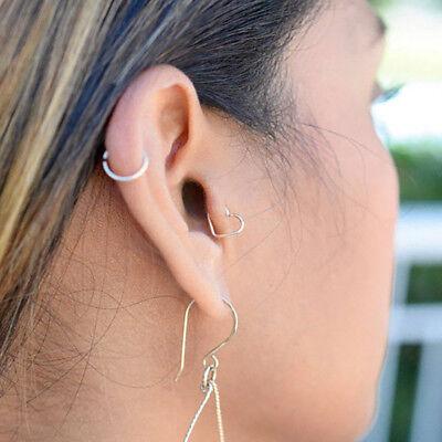 6-8-10mm Sterling Silver Small Hoop Earring Sleeper Ear Nose Lip Piercing Ring 5