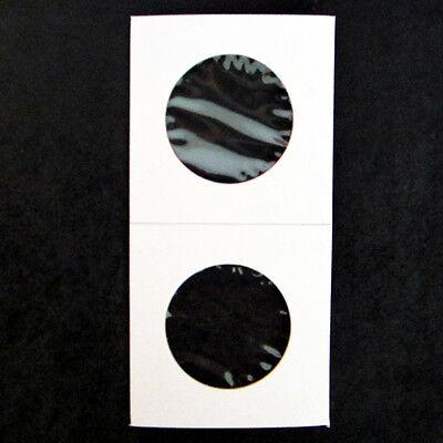 (50) Half Dollar Size 2x2 Mylar Cardboard Coin Flips Storage | 50 Cent Holders 2