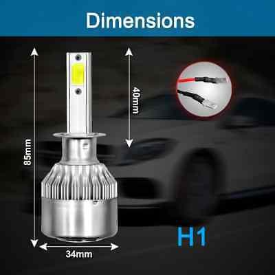 Kit 2 ampoules LED H1 72w 6000k blanc pur / phare lampe feux de croisement NEUF 2