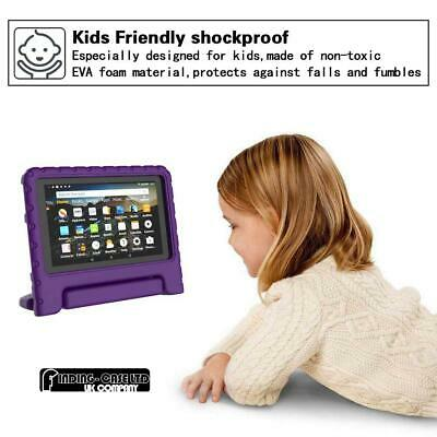 """For Amazon Fire 7"""" HD 8"""" Tablet ShockProof EVA Handle Kids Stand Cover Case +Pen 6"""