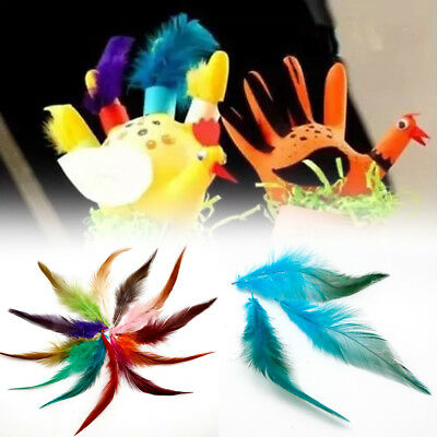 50Pcs Fluffy Rooster Tail Feathers For DIY Craft/Dress/Carnival Party Decoration 4