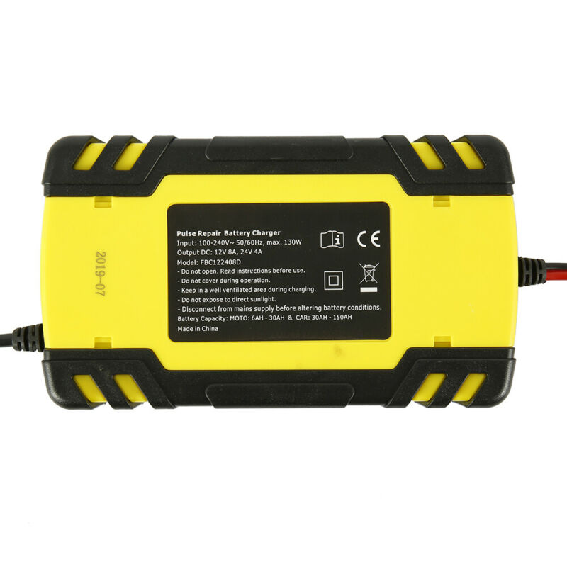 Automatic Electronic Car Battery Charger 12V/24V Fast/Trickle/Pulse Modes 8 AMP 4