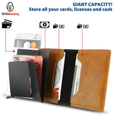 2019 Leather Credit Card Holder Money cash Wallet Clip RFID Blocking Purse AU 2