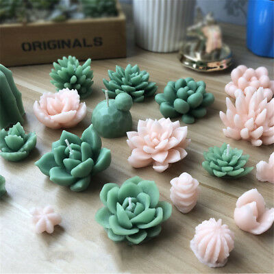 Succulent Cacti Candle Mold Moulds Soap Molds DIY Craft Plaster Silicone Molds 7