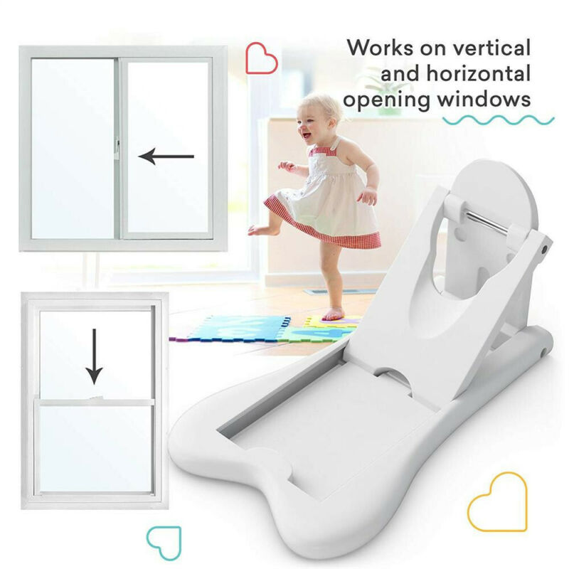 2Pcs Sliding Door Lock for Child Safety Baby Proof Doors & Closets Childproof 3