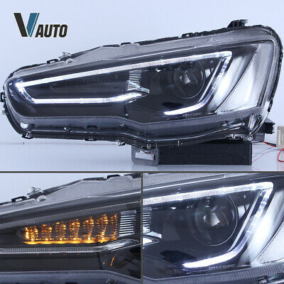 VLAND Fit For Mitsubishi Lancer / EVO X LED HeadlightS Lamp Pair Set Assembly 8