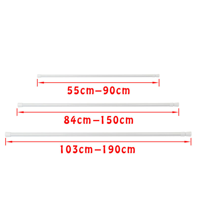 Spring Loaded Extendable Telescopic Net Voile Tension Curtain Rail Pole Nets Rod 2