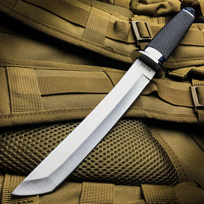 """13"""" TACTICAL BOWIE SURVIVAL HUNTING KNIFE MILITARY Combat Fixed Blade w/ SHEATH 4"""