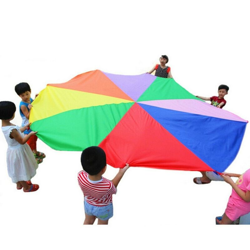 2-4M Kids Play Parachute Large Children Rainbow Outdoor Game Exercise Sport Toy 7