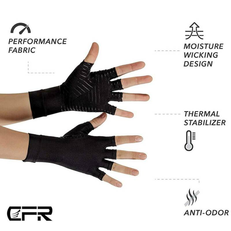 Arthritis Gloves Compression Support Hands Pain Copper Sleeve Carpal Tunnel Grip 9