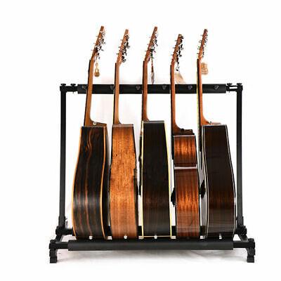 Multiple Guitar Holder Rack Stand 3/5/9 Guitars Triple Folding Organizer Stage 3