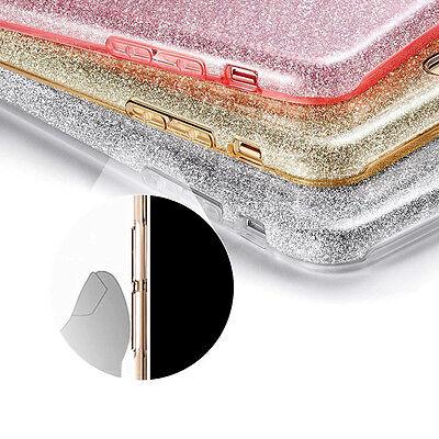 Housse Etui Coque Tpu Avant+Arriere 360° Bling Paillettes Pour Samsung Au Choix