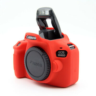 Rubber Silicon Case Cover Protector Skin for Canon EOS 3000D 4000D Rebel T100 4