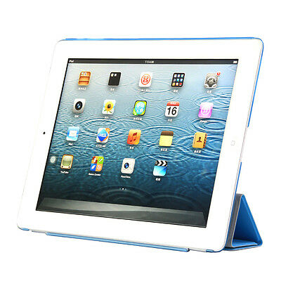 Ultra-Slim! iPad 2 & 3 & 4 Schutz Hülle+Folie Smart Cover Tasche Case Etui 9-F★