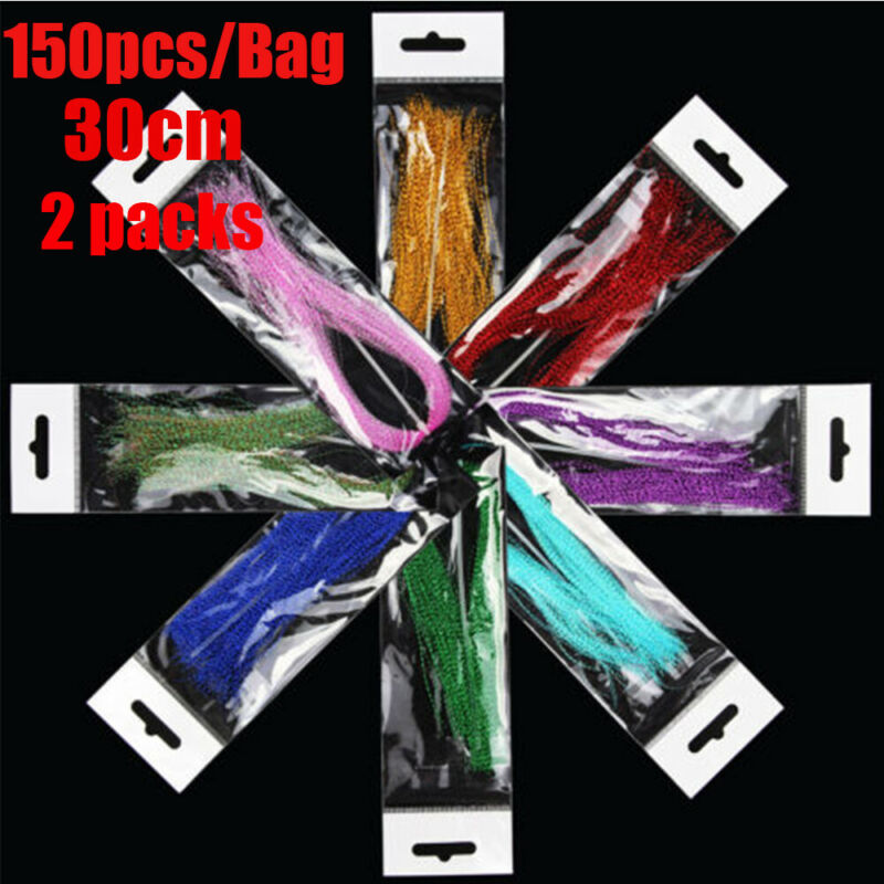 300Pcs 19 Colors Useful Flashabou Crystal Tinsel Flash Fly Tying Materials 4