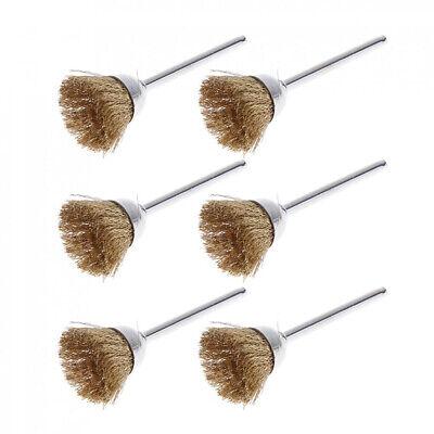36pcs Wire Steel Brass Brushes Polishing Brush Wheels Set for Dremel Rotary Tool 7