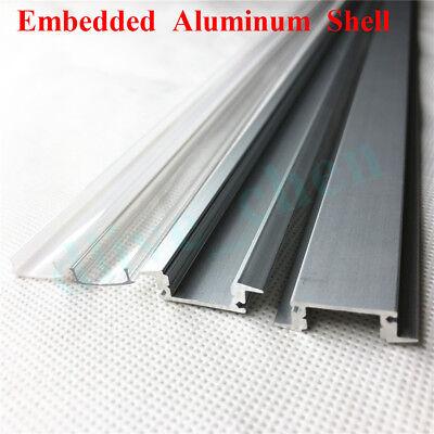 Embedded Aluminum Shell PC Cover Dual Row 5630 Led Strip Bar Light 12V 1M 0.5M 4