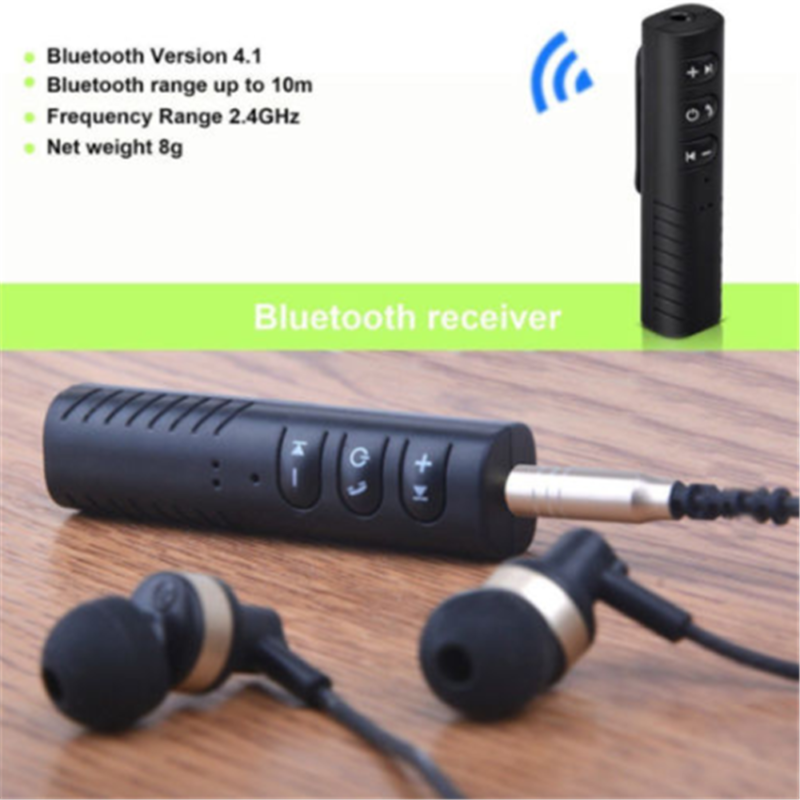 Wireless Car Receiver AUX Music 3.5mm Handsfree Stereo Audio Adapter 9