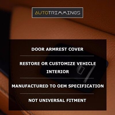 Front Door Panel Leather Synthetic Cover for Ford Escape 01-07 Black