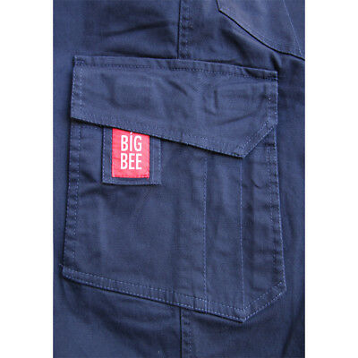 CARGO PANTS Stretch Straight Fit Mens Classic Work Trousers Cotton Drill 3M Tape 11