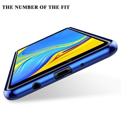 COVER per Samsung Galaxy A7 2018 CUSTODIA Tpu ORIGINALE ELECTROPLATING SLIM Case 6