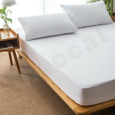 All Size Fully Fitted Terry Cotton Waterproof Mattress Protector Bed Soft Cover 2