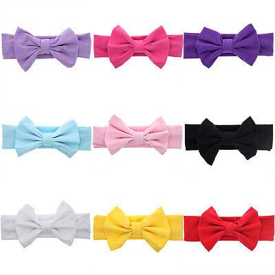 Baby Toddler Girls Kids Bunny Rabbit Bow Knot Turban Headband Hair Band Headwrap 3