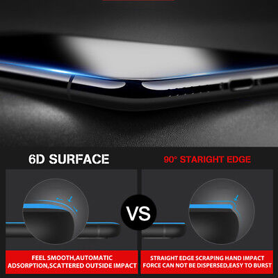 2x 6D Full Cover iPhone XS Max XR 8 7 Plus Screen Protector Tempered Glass Apple 9