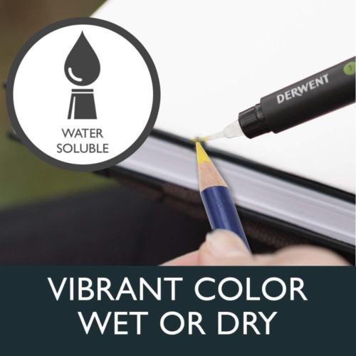 Derwent 2301842 Inktense Permanent Watercolour Pencils, Multi-Colour, Set of 36 3
