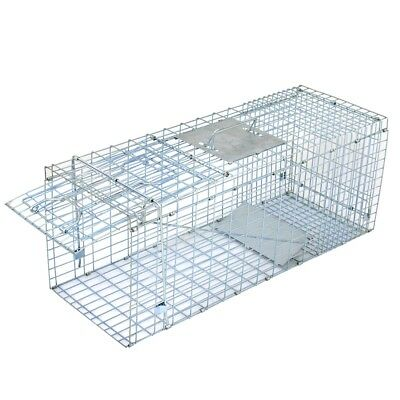 32'' Humane Live Animal Trap 1 Door Rodent Cage for Rabbits Cat Raccoon Squirrel 11