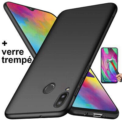 Coque Samsung A70 A50 A40 A20e A10 Housse AntiChoc Case Noir+ Film Verre Trempé 2