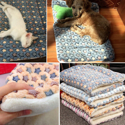 Dog Cat Puppy Pet Plush Blanket Mat Warm Sleeping Soft Bed Blankets Supplies 3