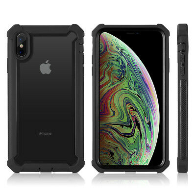 Hybrid Shockproof Heavy Duty Clear Case Fits In iPhone XS Max/XR/X/6/6s/7/8 Plus 8