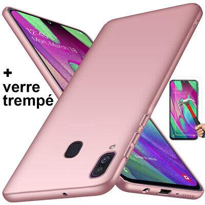 Coque Samsung A70 A50 A40 A20e A10 Housse AntiChoc Case Noir+ Film Verre Trempé 3