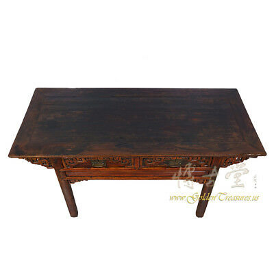 Chinese Antique Carved Zhejiang Writing Desk/Console Table 17LP12 6