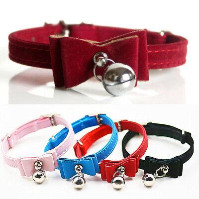 Pet Bell Collar Cat Kitten Collar Bow Tie Neck Chain Supply Accessory Tool Kit 12