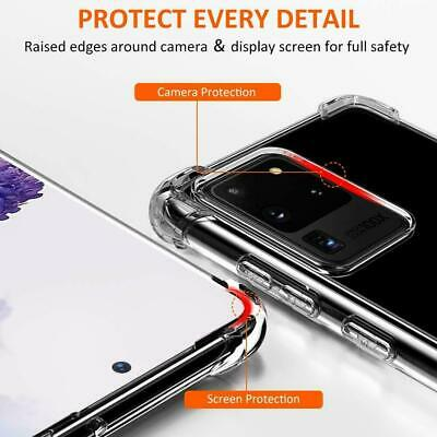 For Samsung Galaxy S20 S20+ Ultra S10 S10+ S10E Heavy Duty Soft Clear Case Cover 2