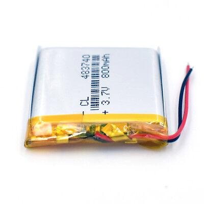 10pcs 483740 Rechargeable Battery 3.7V 800mAh Li-Polymer Li-ion LiPo for GPS MP3 8