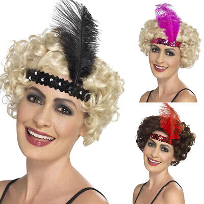 Vintage Feather Flapper Headband Bridal Headpiece Hairband Hair Accessories 11