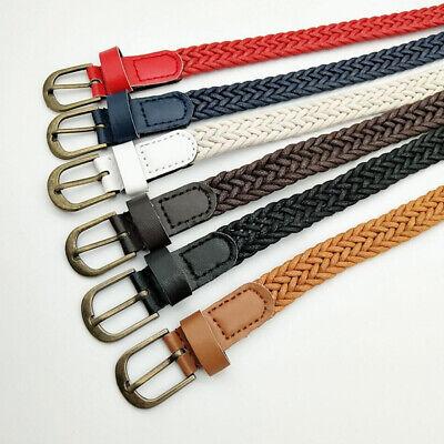 New Fashion Women Braided Girdle Thin Waist Belt Leather Skinny Narrow Waistband 5