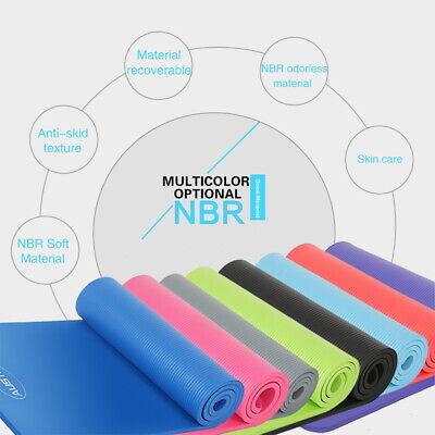 Extra Thick Yoga Mat 16mm Non Slip Exercise Pilates Gym Picnic Camping Straps UK 5
