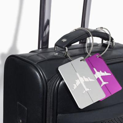 New Aluminium Luggage Tags Suitcase Label Name Address ID Bag Baggage Tag Travel 8