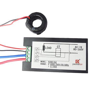 100A AC Digital LCD Power Panel Meter Monitor Power Energy Voltmeter Ammeter NEW 7