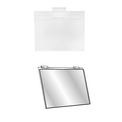 Set Of 12 Pc 5-1/2''H x 7''W Clear Acrylic Slatwall Lucite Frame Retail Display 2