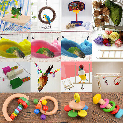 Pets Bird Toy Parrot Hanging Swing Rope Cage Toys Parakeet Cockatiel Budgie Lot 2