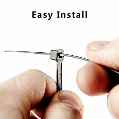 NiftyPlaza 4 Inch Cable Ties - 1000 Pack - UV Weather Resistant 18 lbs Zip Ties 3