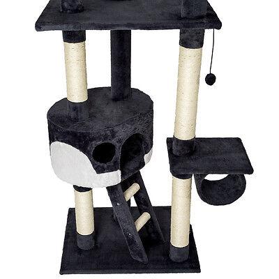 Arbre à chat griffoir grattoir jouet animaux douillet geant peluché noir blanc 3