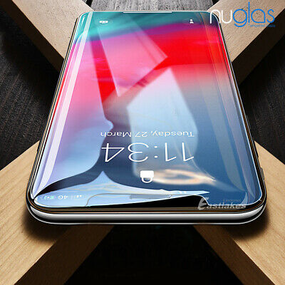 2x NUGLAS Tempered Glass Screen Protector Apple iPhone 11 XS Max XR 8 7 6s Plus 5