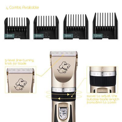 Rechargeable Cat Dog Clipper Cordless Pet Clippers Hair Shaver Grooming Trimmer 4